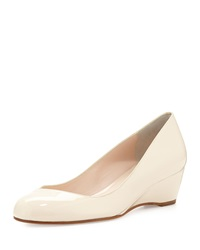 Delman Doll Patent Leather Wedge Nude