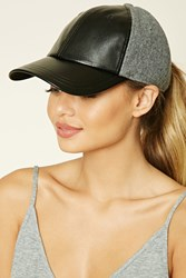 Forever 21 Active Faux Leather Hat Charcoal Black