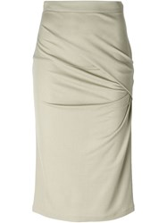 Givenchy Gathered Pencil Skirt Nude And Neutrals