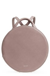 Matt And Nat Kiara Faux Leather Circle Backpack Pink Orchid