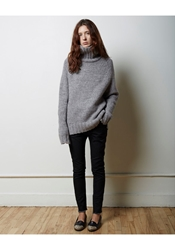 La Garconne Moderne Didion Chunky Turtleneck Heather Grey
