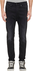 R 13 The Drop Jeans Black