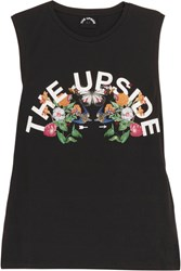The Upside Chambal Printed Cotton Jersey Tank Black