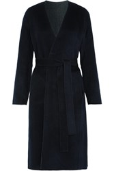 Vince Reversible Wool And Cashmere Blend Felt Coat Navy