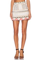 Sanctuary Party Mini Skirt Ivory
