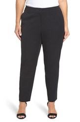 Sejour Plus Size Women's Straight Leg Ankle Pants