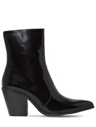 Jeffrey Campbell 80Mm Brushed Leather Boots Black