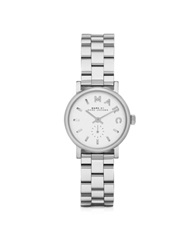 Marc By Marc Jacobs Baker 28 Mm Silver Tone Stainless Steel Women's Watch