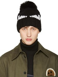 Fendi Black Monster Beanie