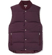 Nonnative Quilted Nylon Down Gilet Burgundy