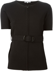 Carven Shortsleeved Belted Cardigan