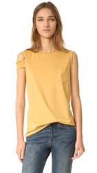 Helmut Lang Strappy Top Mustard