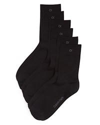 Calvin Klein Hosiery Light Sparkle Crew Socks Set Of 3 Black