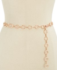 Inc International Concepts Rectangle Chain Link Belt Only At Macy's Rose Gold