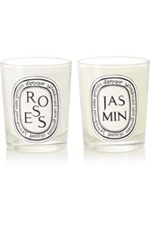 Diptyque Roses And Jasmin Set Of Two Scented Candles Colorless