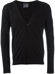Laneus V Neck Cardigan Black