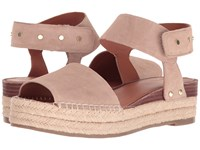 Franco Sarto Oak 2 Summer Beige Lux Brushed Suede Women's Sandals Pink