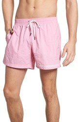 Danward Solid Swim Trunks Rose