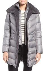 Kenneth Cole Women's New York Quilted Down Coat Nickel