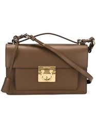 Salvatore Ferragamo 'Aileen' Crossbody Bag Brown