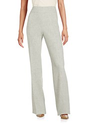 Akris Wool Wide Leg Trousers Gravel