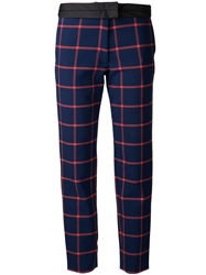 Thakoon Addition Cropped Trousers Blue