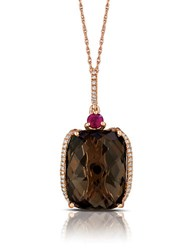 Marco Moore Smoky Quartz Diamond And 14K Rose Gold Pendant Necklace Brown