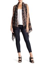 David And Young Lace Inset Floral Tunic Wrap Black