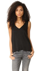 Feel The Piece Fiona Woven Layering Tank Black
