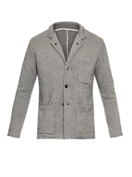 Tomorrowland Dot Intarsia Knit Blazer