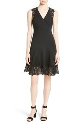 Rebecca Taylor Women's Lace Back A Line Dress