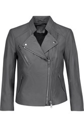 Joie Casella Leather Biker Jacket Gray