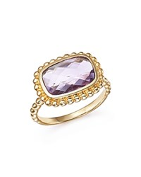 Bloomingdale's Rose Amethyst Beaded Ring In 14K Yellow Gold Pink Gold