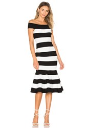 Milly Mermaid Dress Black And White