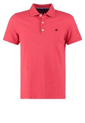 Banana Republic Polo Shirt Red Heather Mottled Red