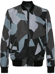 Diesel 'J Kill Digital' Bomber Jacket Grey