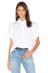 Kendall Kylie Lace Back Top White