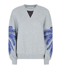 Stella Mccartney Palm Embroidered Slouchy Sweatshirt Female Grey