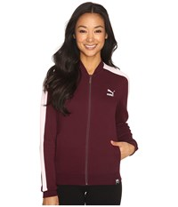 Puma T7 Track Jacket Winetasting Women's Coat Burgundy