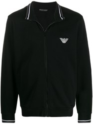 Emporio Armani Zipped Logo Sweater 60