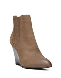 Sam Edelman Gillian Leather Wedge Ankle Boots Brown