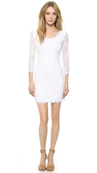 Diane Von Furstenberg Zarita Scoop Dress White White