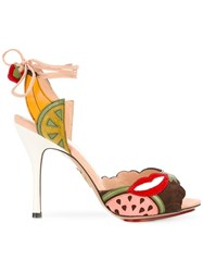 Charlotte Olympia Fruit Patch Heeled Sandals