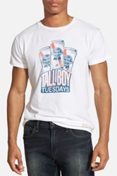 Original Retro Brand 'Pbr Tallboy Tuesdays' Graphic T Shirt White