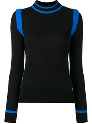 Paco Rabanne Contrast Knitted Top Black