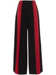 Marni Contrast Stripe Flared Trousers Black