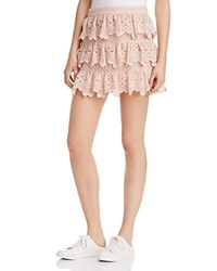 Aqua X Maddie And Tae Lace Tiered Skirt 100 Bloomingdale's Exclusive Blush