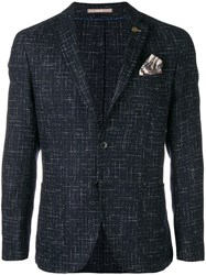 Paoloni Front Button Blazer Blue