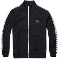 Fred Perry Laurel Taped Track Jacket Black