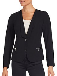 Laundry By Shelli Segal Single Button Jacket Black